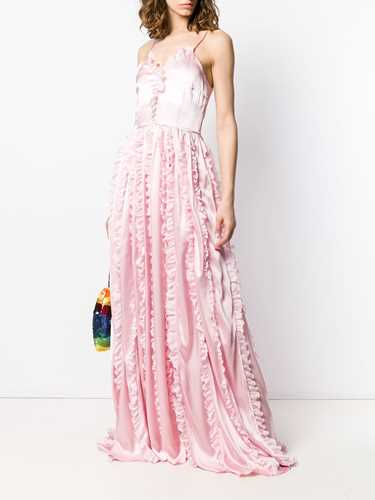 Picture of Brognano | Ruffled Trim Long Dress
