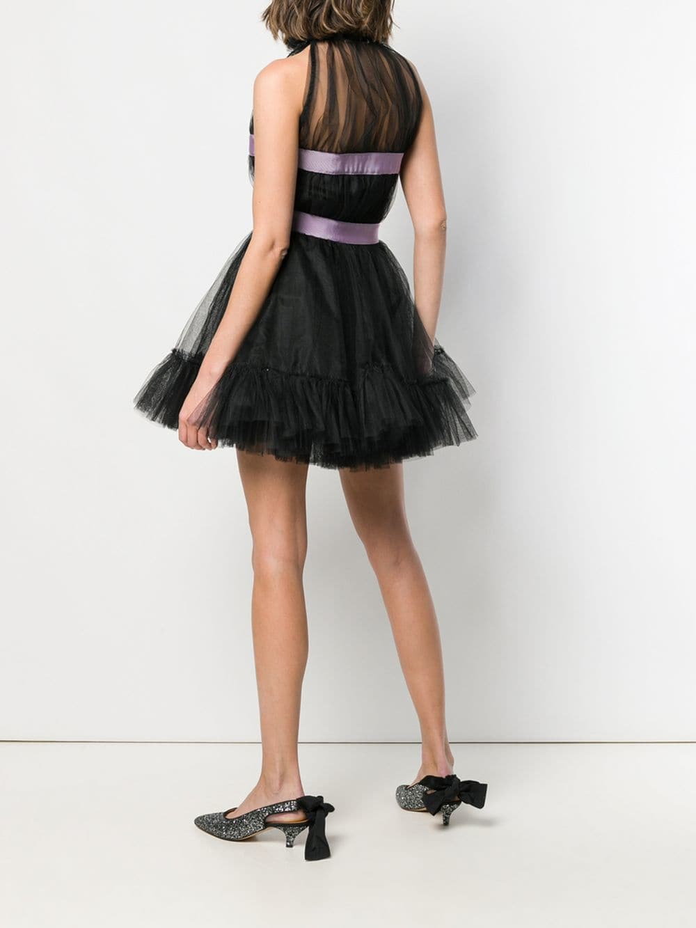 Picture of Brognano | Bow Detail Mini Dress
