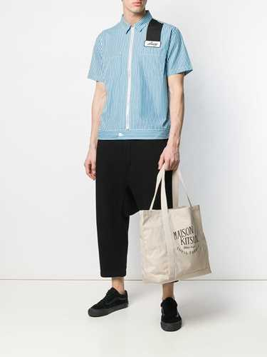 Picture of Maison Kitsune` | Printed Logo Shoulder Bag