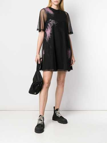 Picture of Mcq | Feather-Embellished T-Shirt Dress