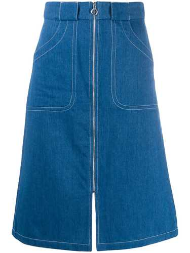 Picture of A.P.C. | Zip-Through Denim Skirt