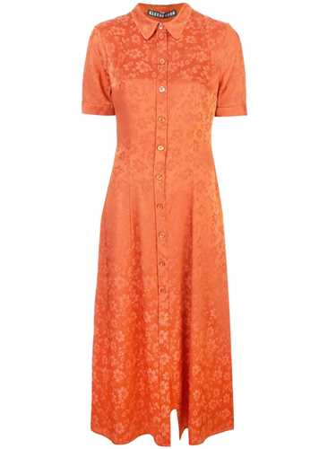 Picture of Alexachung | Floral Embroidered Shirt Dress
