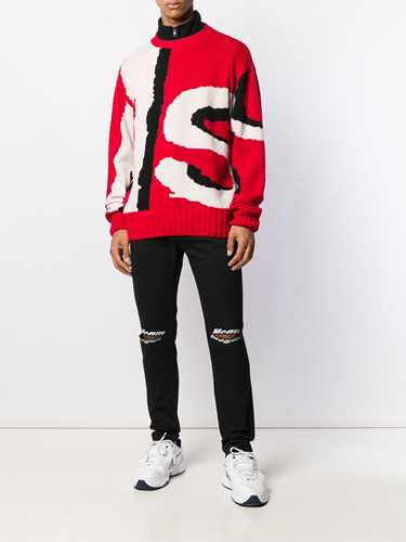 Picture of Msgm   Distressed Logo Jeans