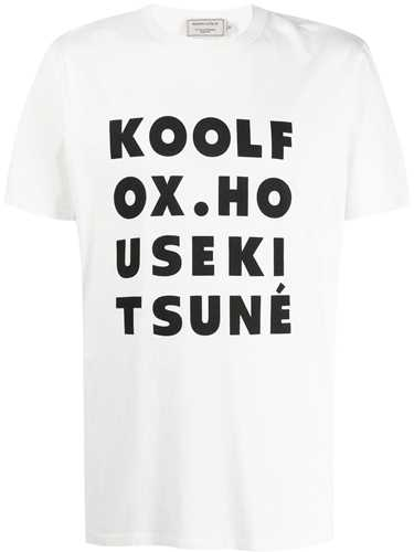 Picture of Maison Kitsune` | Printed Text T-Shirt