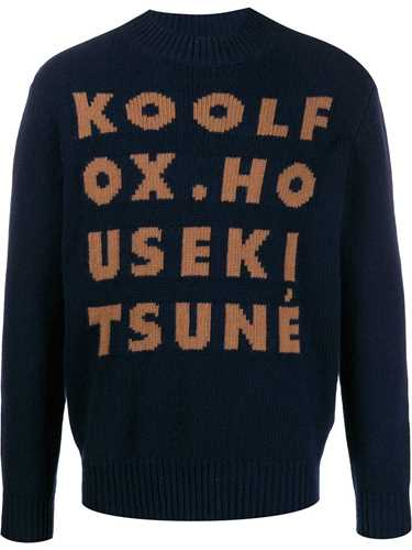 Picture of Maison Kitsune` | Knitted Text Jumper