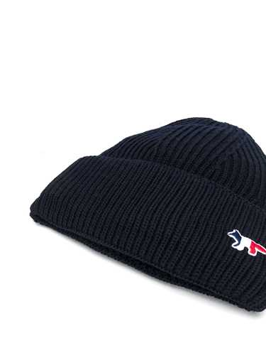 Picture of Maison Kitsune` | Logo Embroidered Beanie Hat