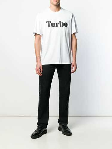 Picture of Msgm | Turbo Slogan Print T-Shirt