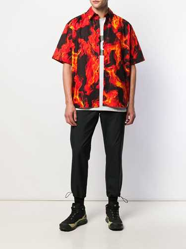 Picture of Msgm | Flame Print Shirt