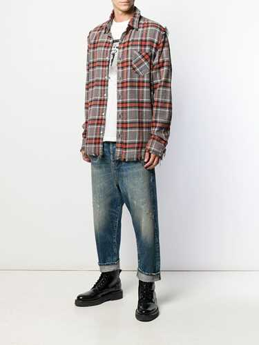 Picture of R13 | Plaid Shredded Shirt