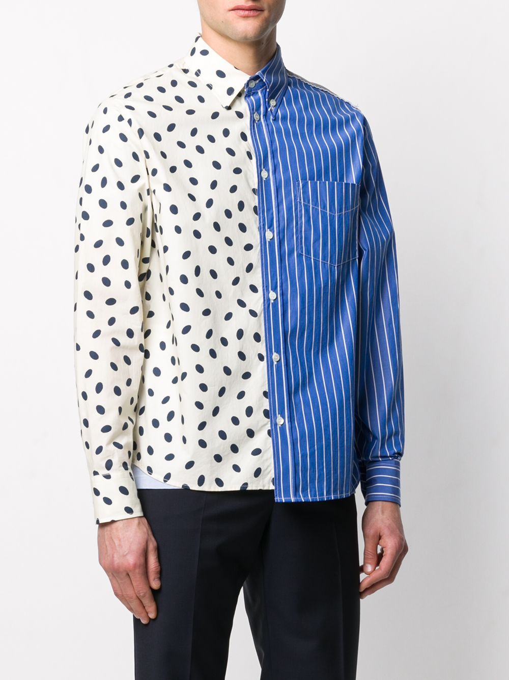 Picture of Marni | Panelled Long Sleeve Shirt