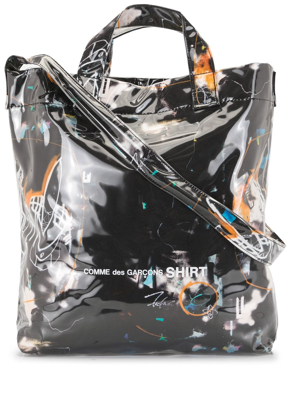 Picture of Comme Shirt | Abstract-Print Tote Bag
