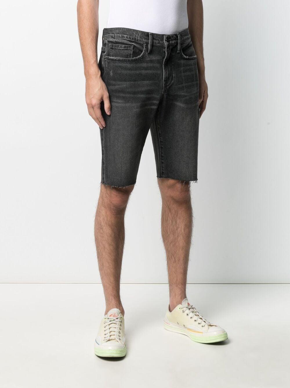 Picture of Frame Denim | Slim-Fit Knee-Length Denim Shorts