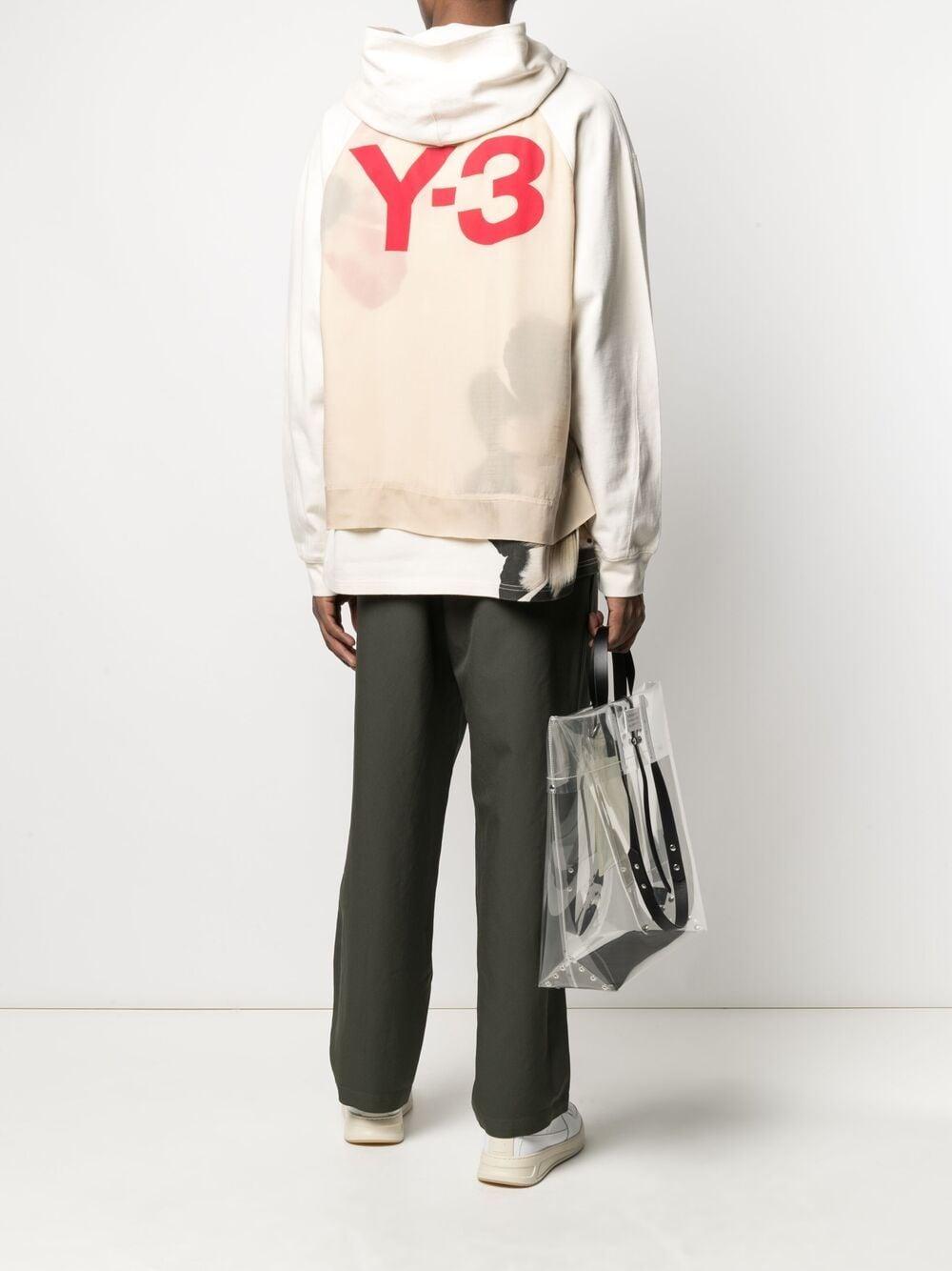 Picture of Adidas Y-3   Rear-Logo Print Hoodie