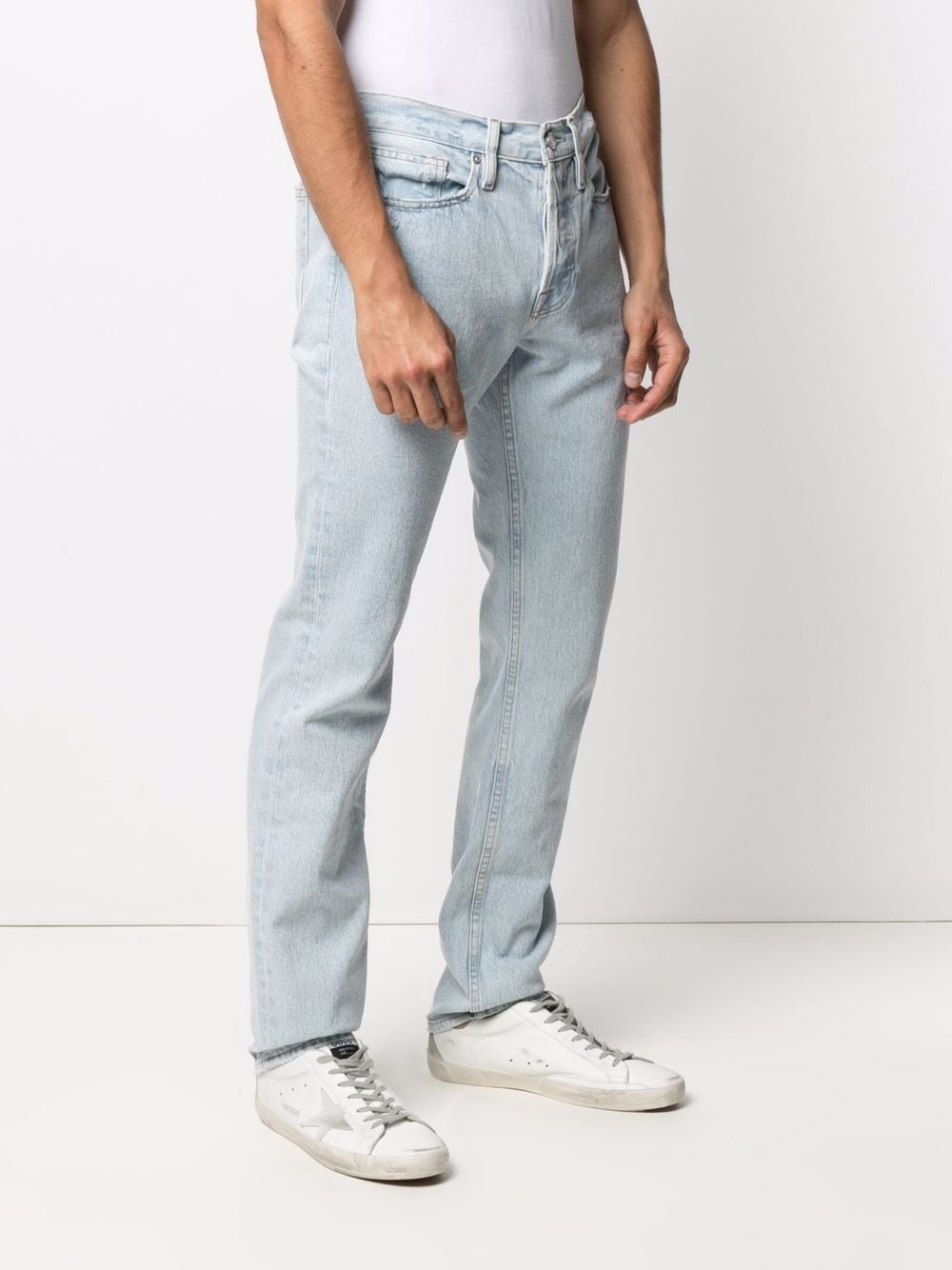 Picture of Frame Denim   Mid-Rise Straight-Leg Jeans
