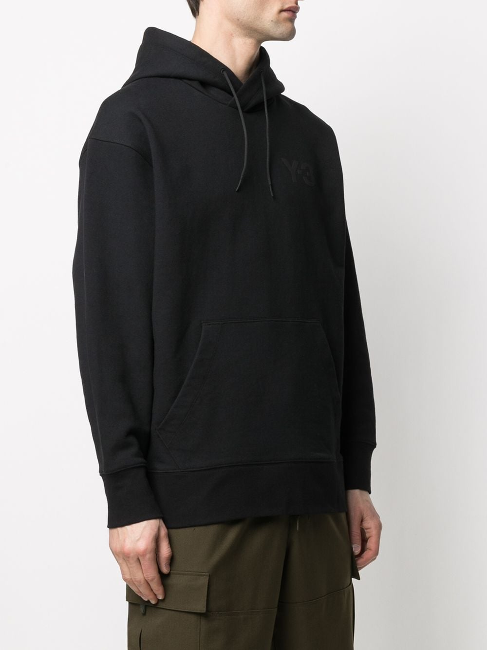 Picture of Adidas Y-3 | Logo-Print Cotton Hoodie