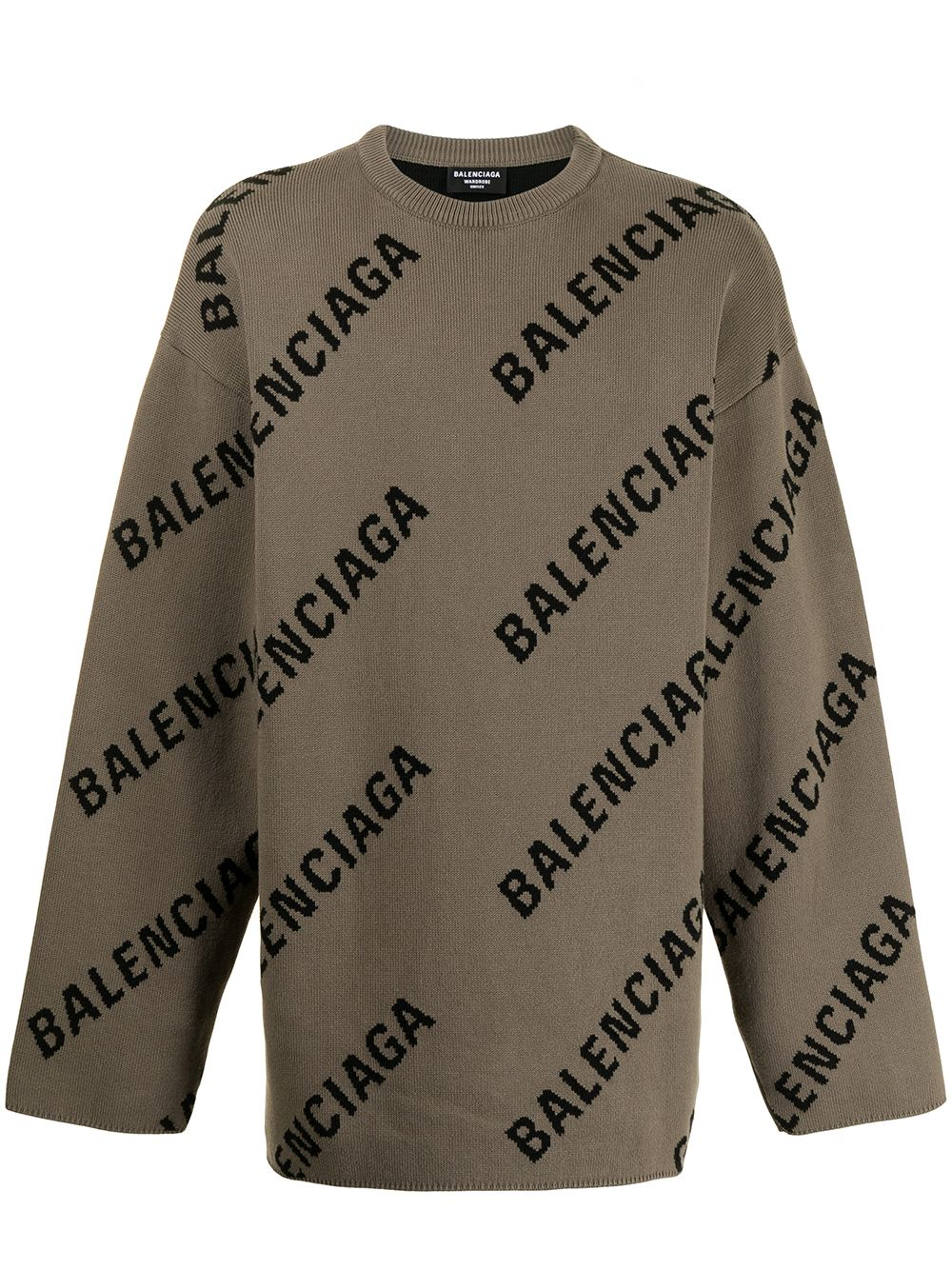 Picture of Balenciaga   Logo-Intarsia Oversized Jumper