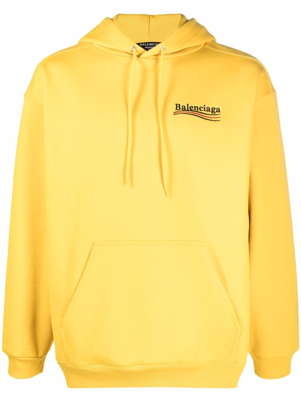 Picture of Balenciaga | Embroidered-Logo Drawstring Hoodie