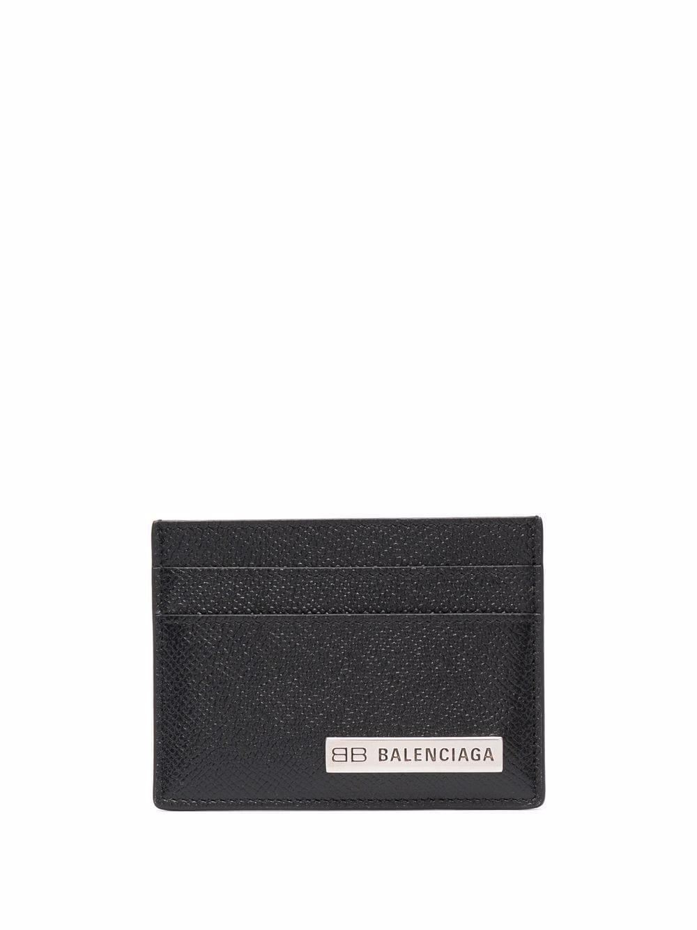 Picture of Balenciaga | Logo-Plaque Textured-Finish Cardholder