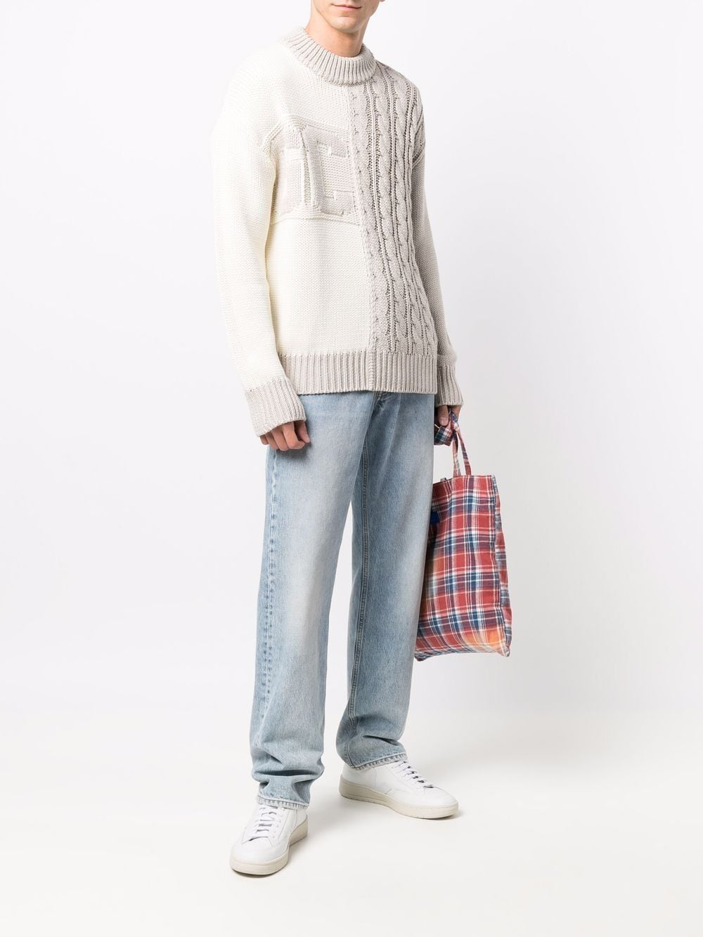 Picture of Gcds | Logo Cable-Knit Jumper