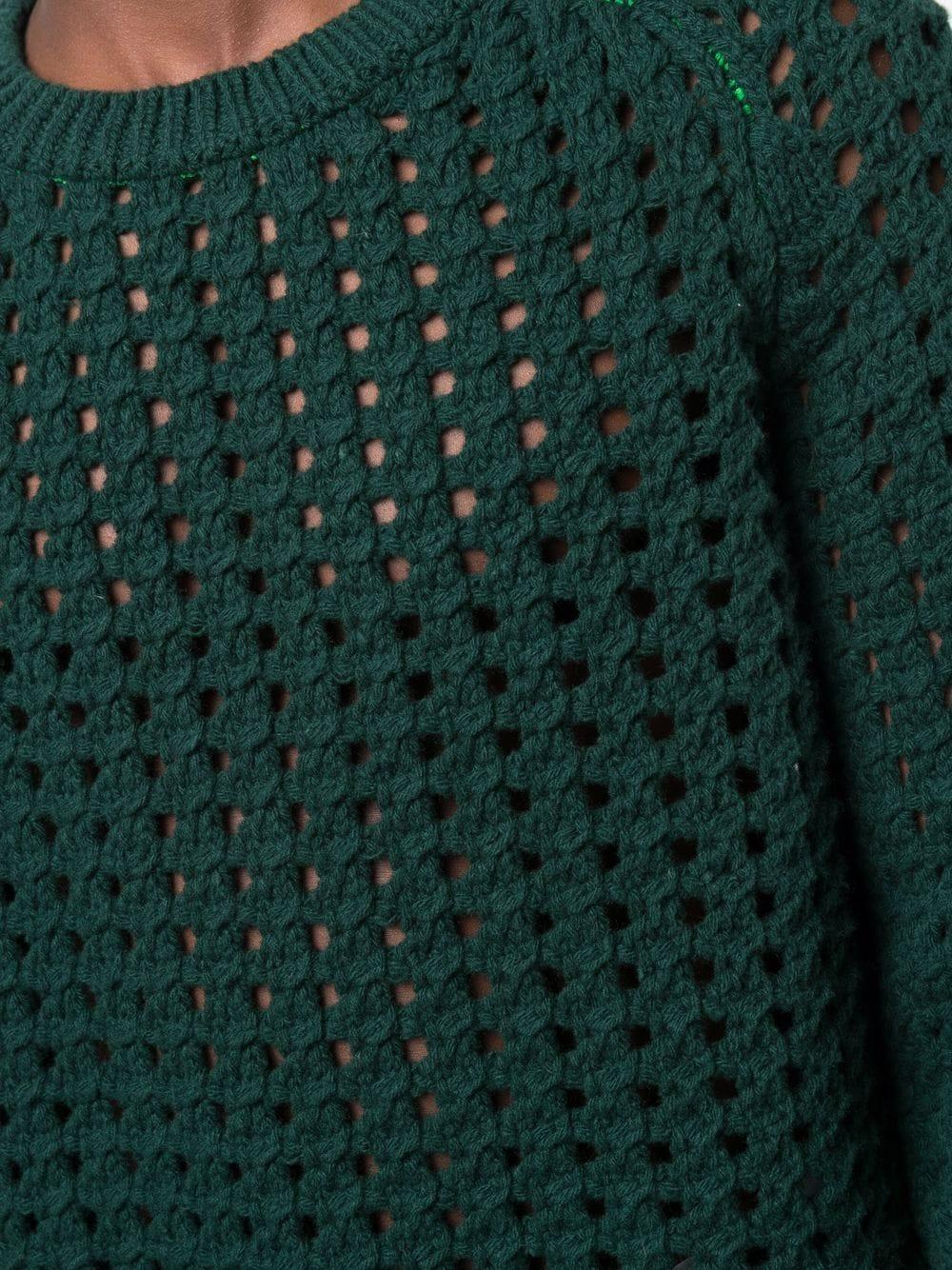 Picture of Bottega Veneta   Open Cable-Knit Long-Sleeve Jumper
