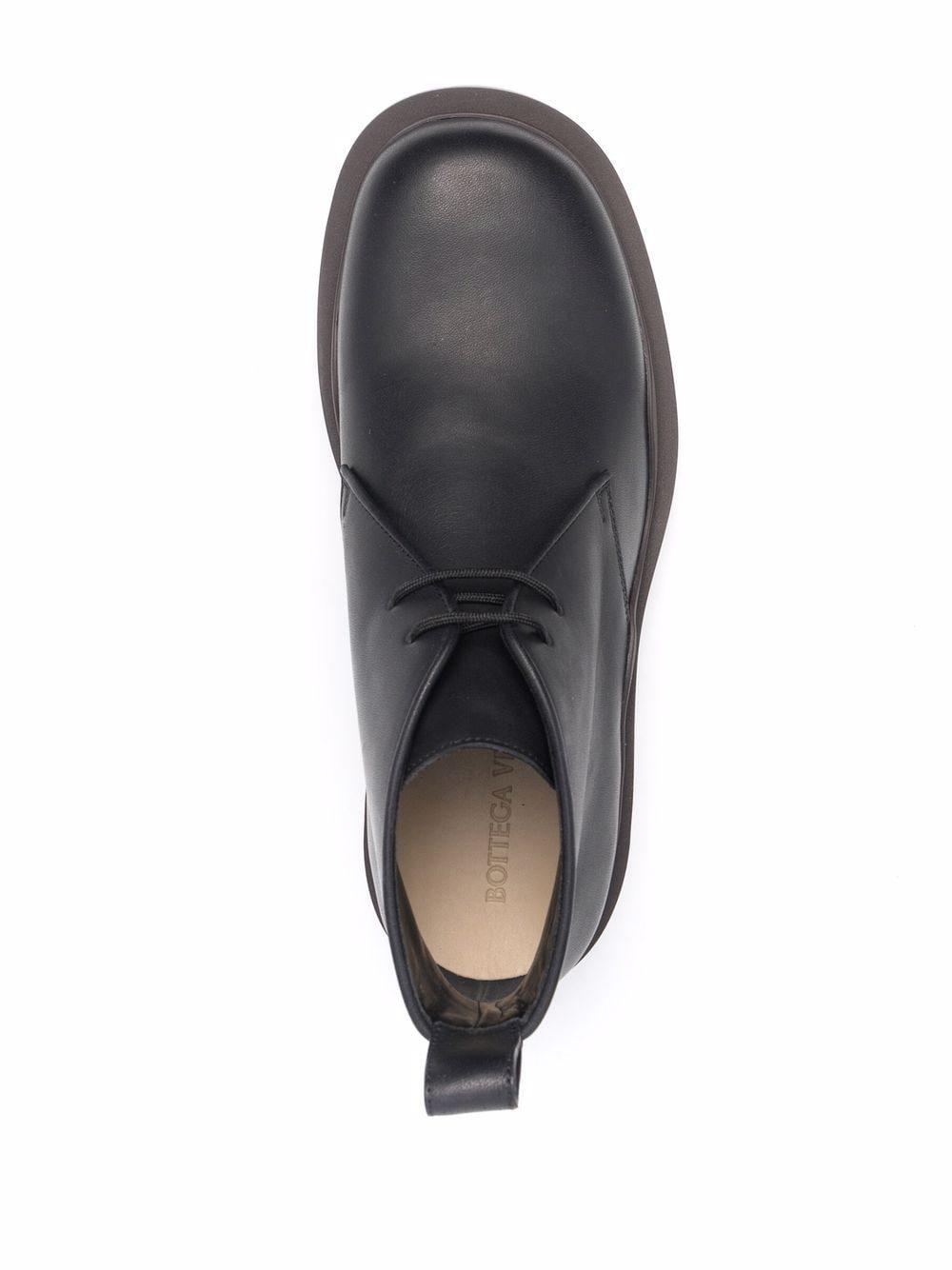 Picture of Bottega Veneta | Tire Lace-Up Desert Boots