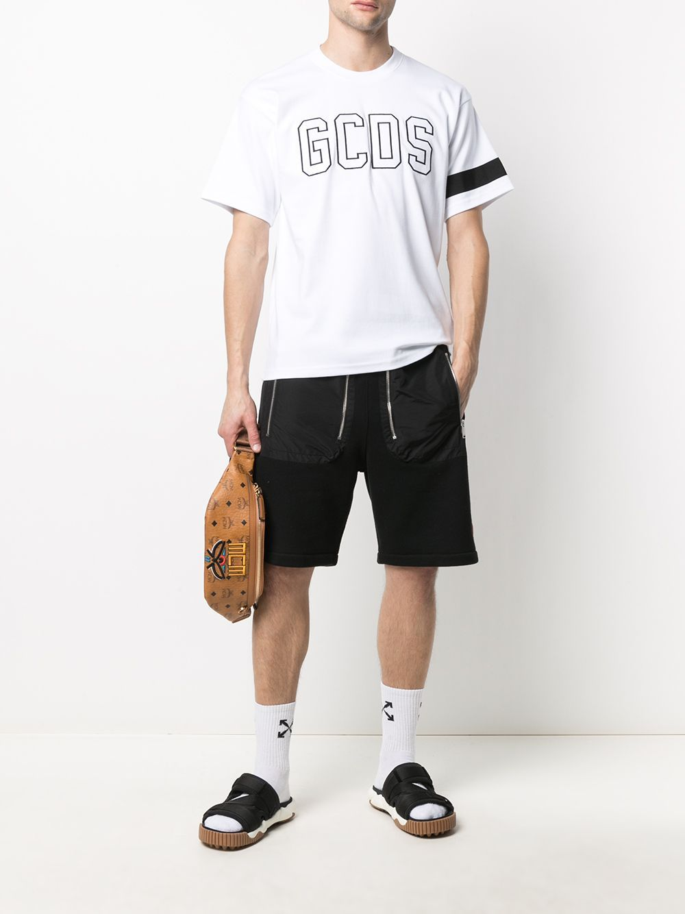 Picture of Gcds | Embroidered-Logo Cotton T-Shirt