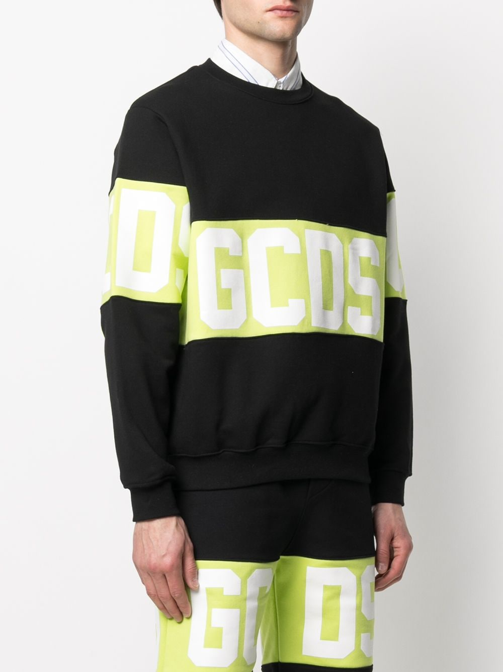 Picture of Gcds | Panelled Logo-Print Sweatshirt