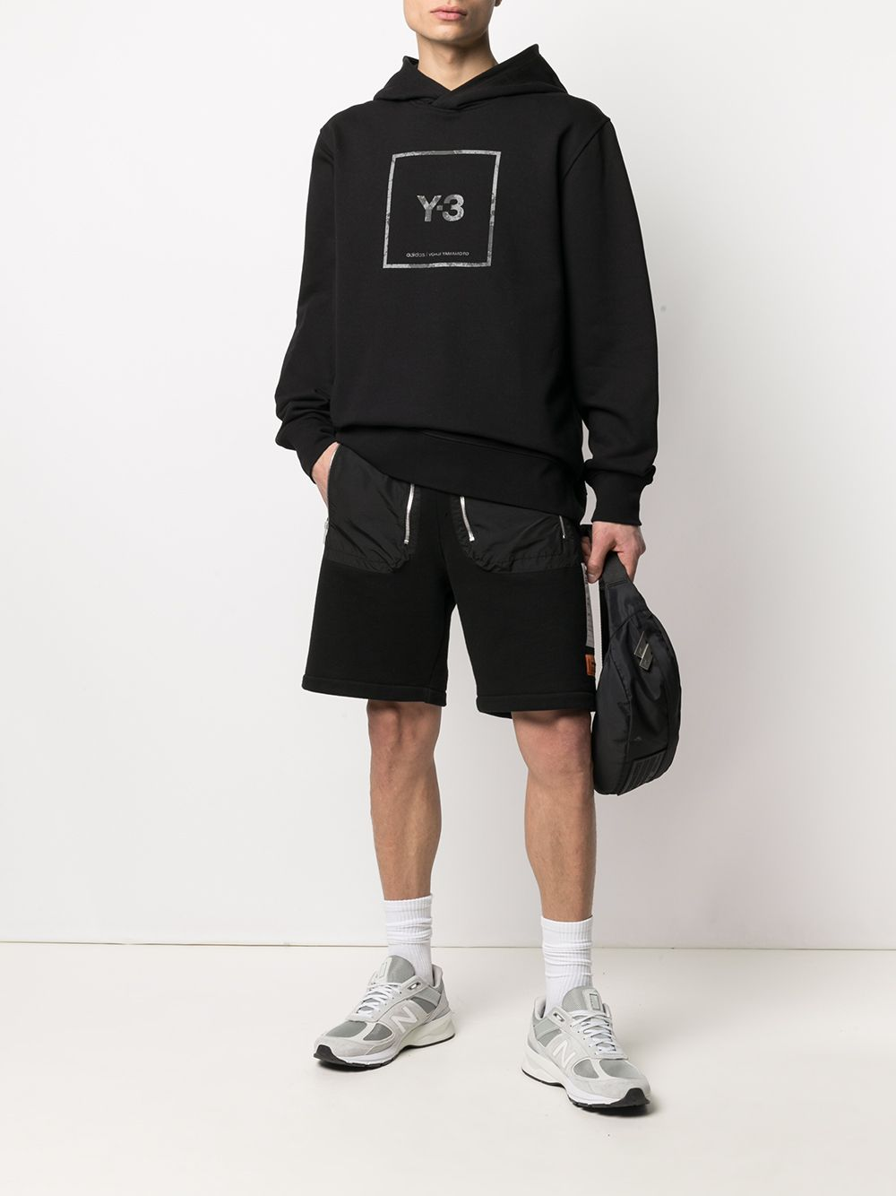Picture of Adidas Y-3 | Logo-Print Oversized Hoodie