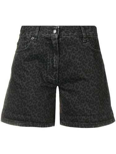 Picture of Mcq | Denim Leopard Shorts