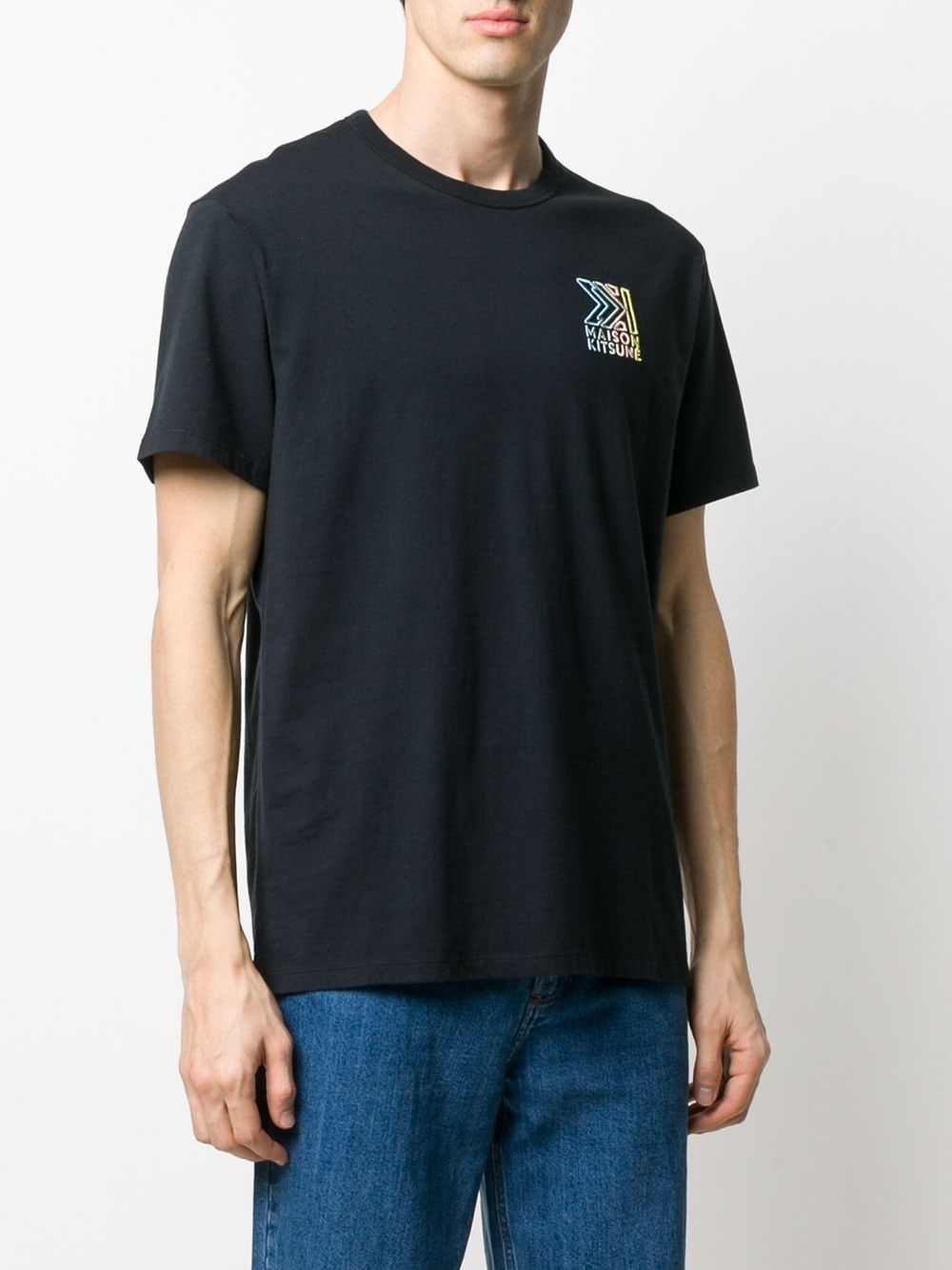 Picture of Maison Kitsune` | Logo-Embroidered T-Shirt