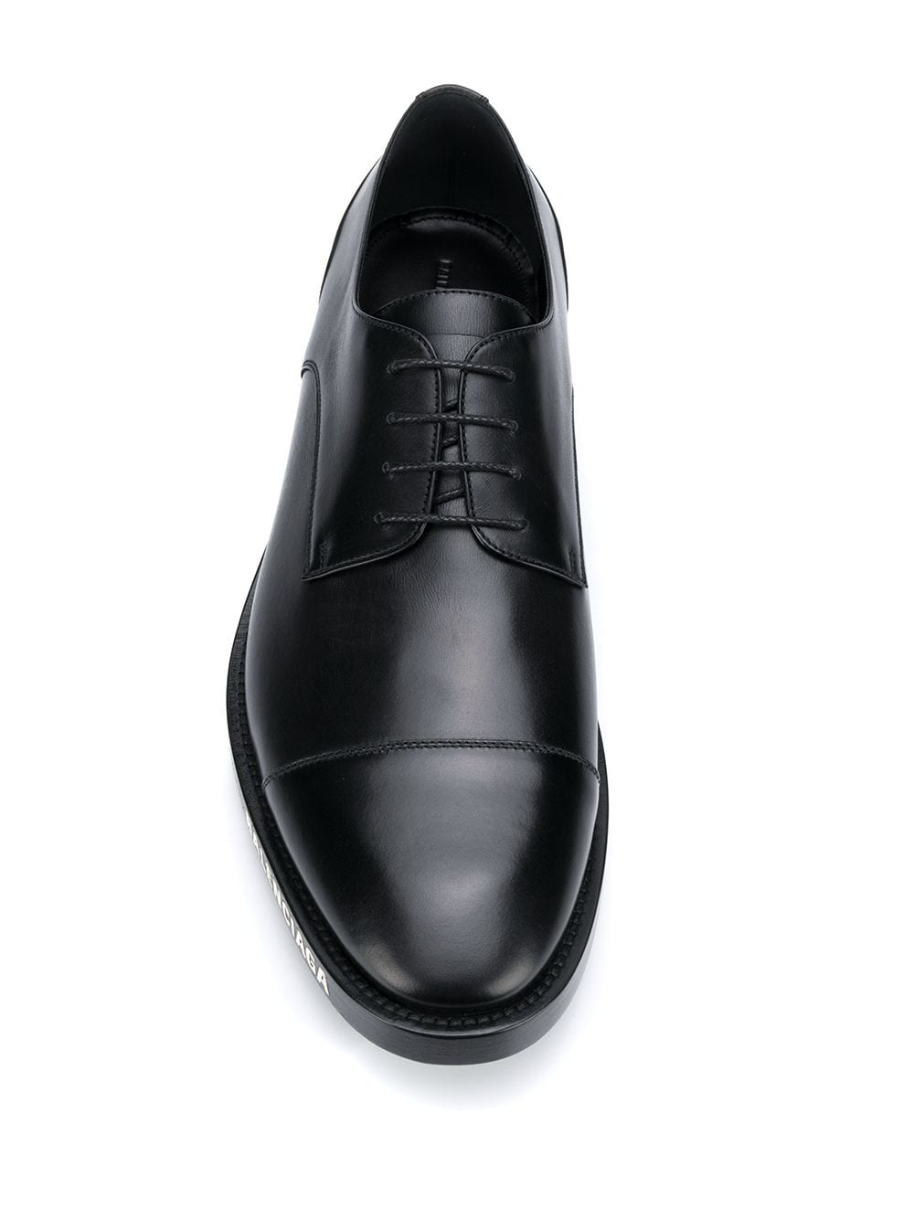 Picture of Balenciaga | Logo-Print Derby Shoes