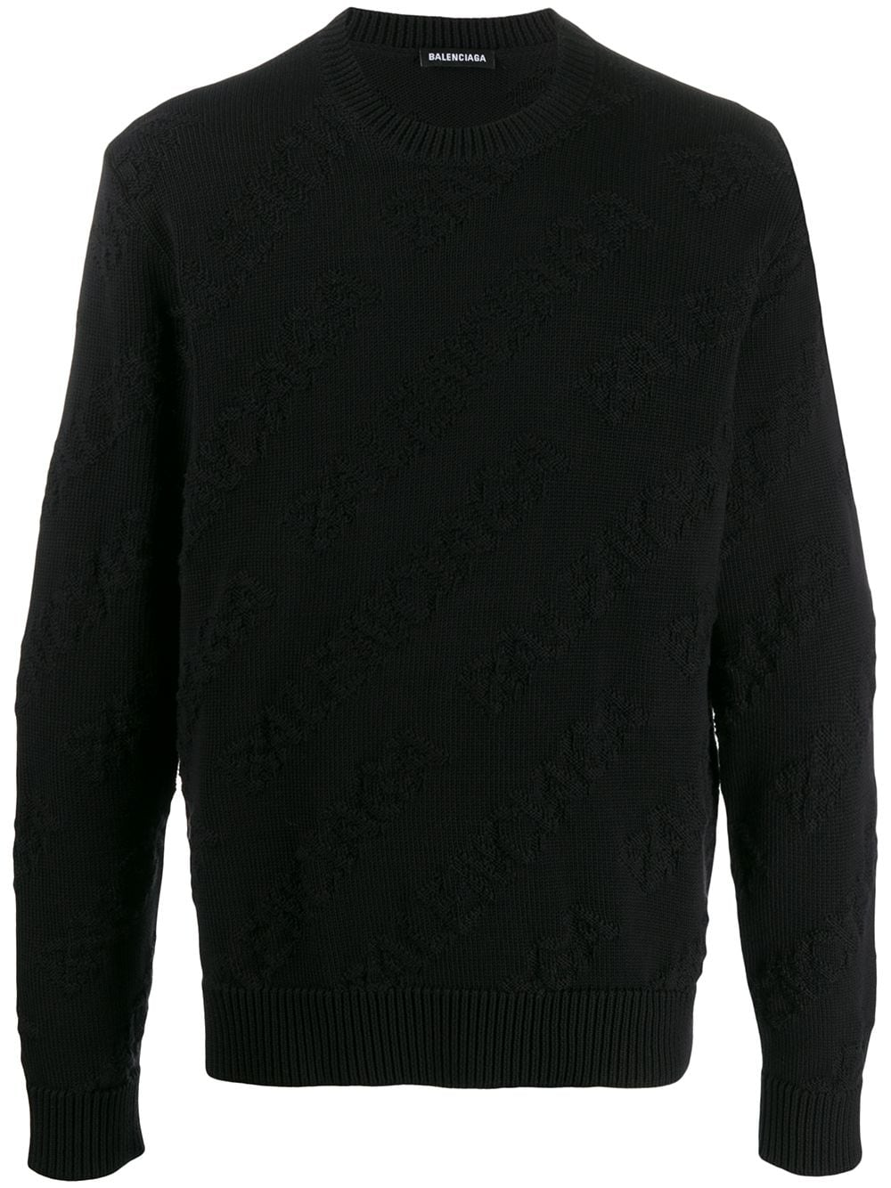 Picture of Balenciaga | Allover Logo Crew Neck Jumper