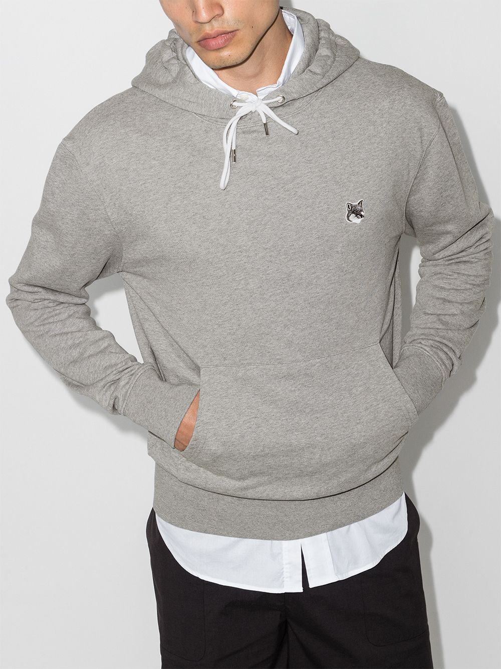 Picture of Maison Kitsune`   Logo Patch Hoodie