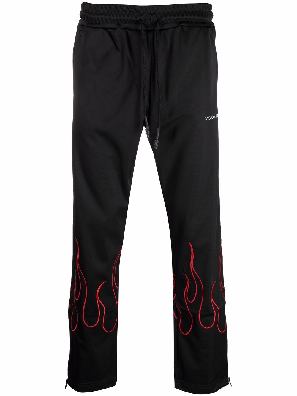 Picture of Vision Of Super   Flame-Trim Straight Leg Joggers