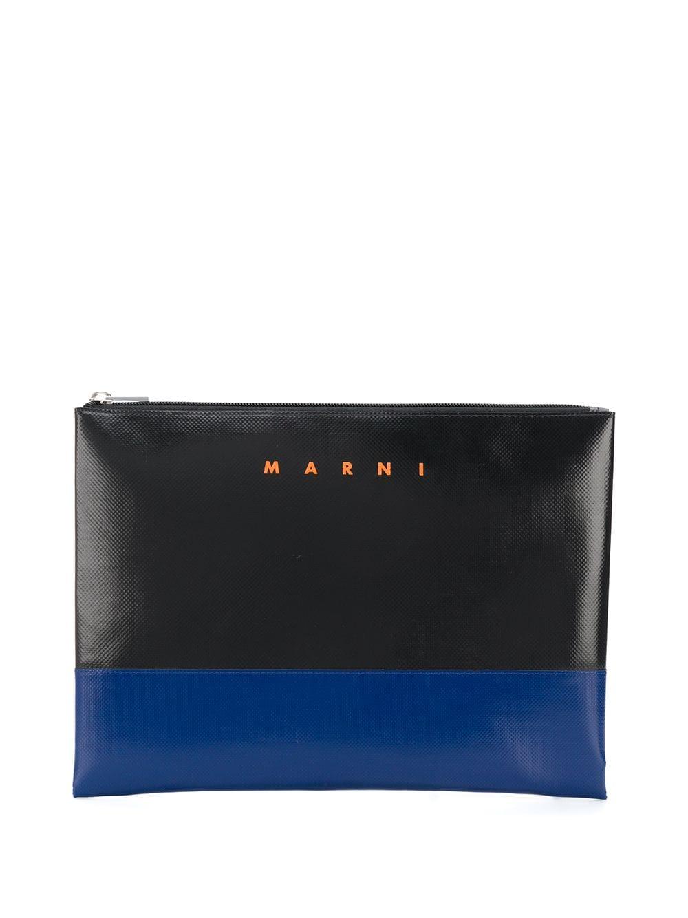 Picture of Marni   Bi-Colour Logo Print Pouch