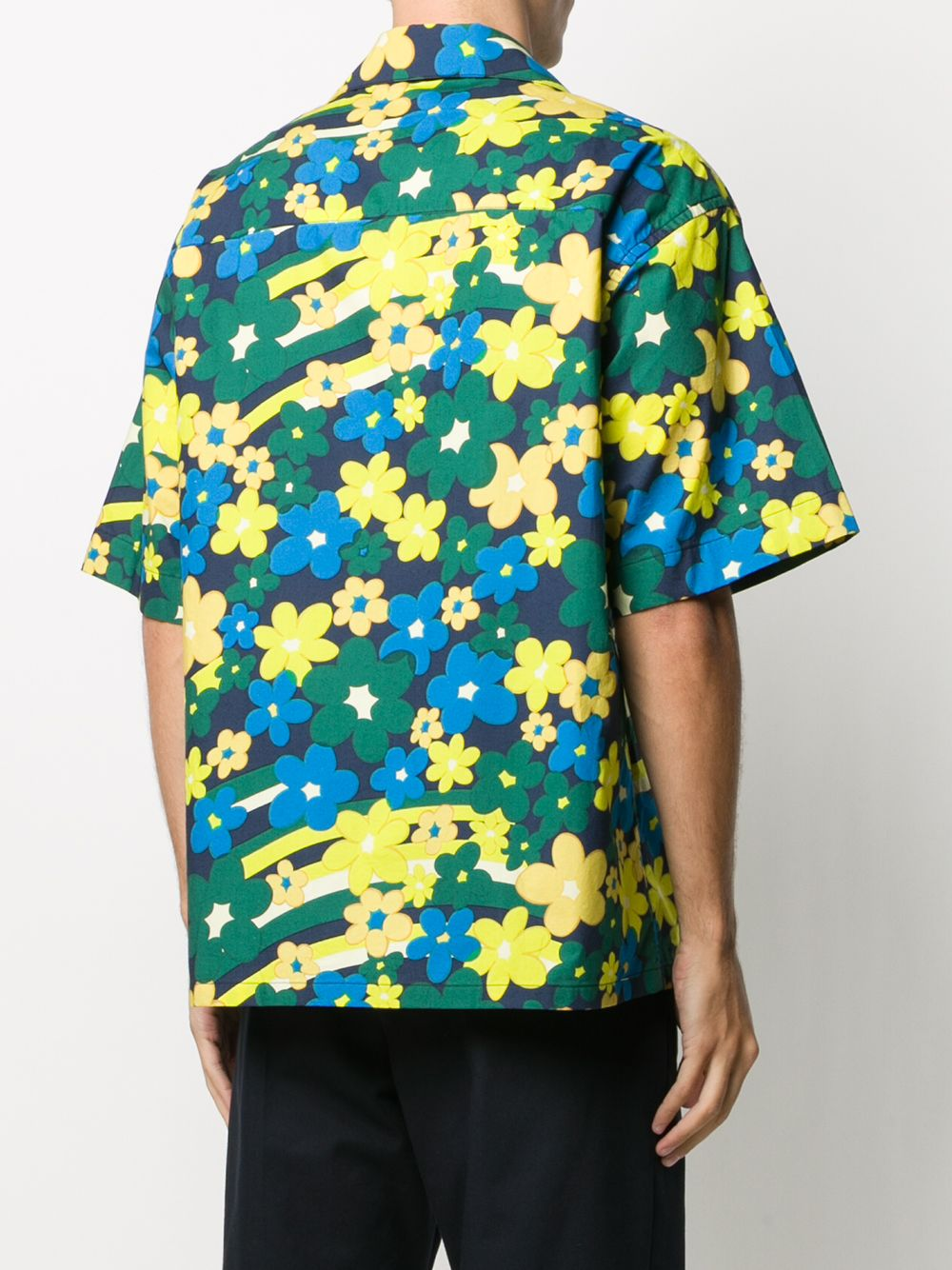 Picture of Marni | Floral-Print Buttoned Shirt