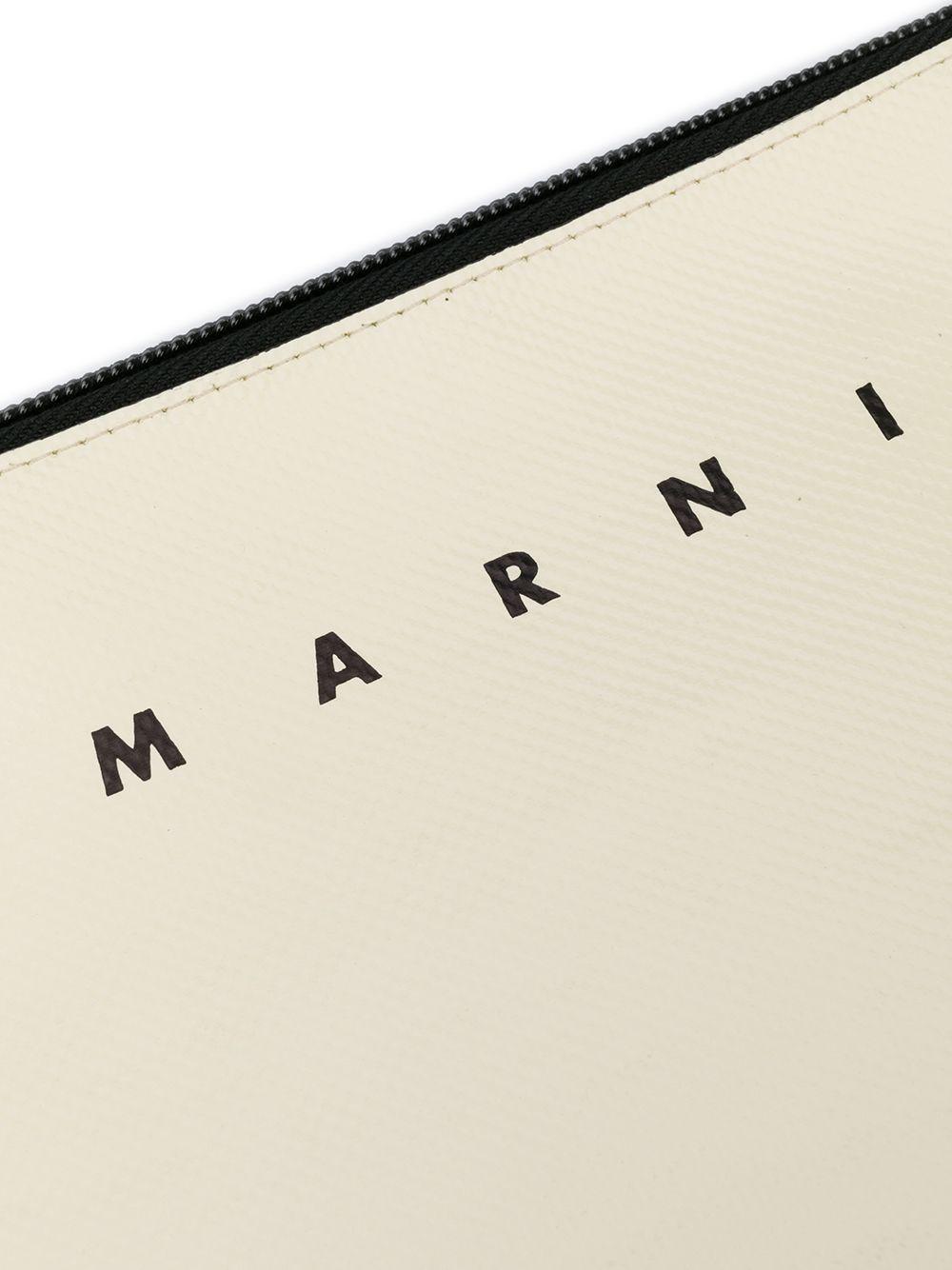 Picture of Marni | Bi-Colour Logo Print Pouch