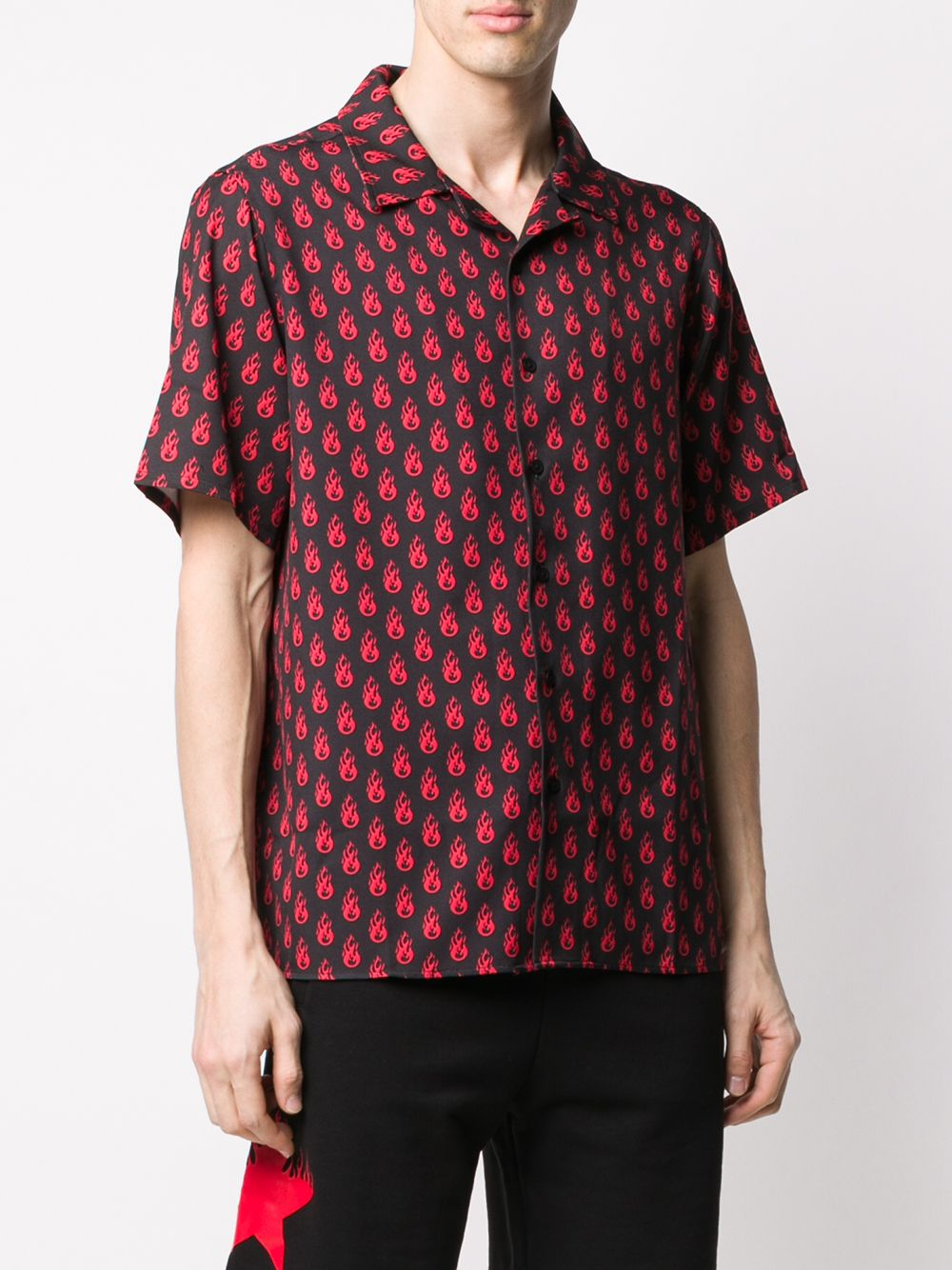 Picture of Vision Of Super | Flame Print Boxy-Fit Shirt