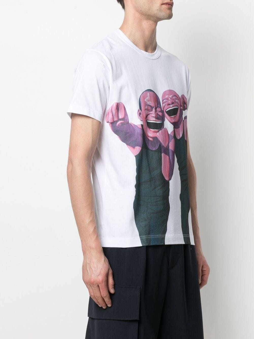 Picture of Comme Shirt | Graphic-Print Cotton T-Shirt