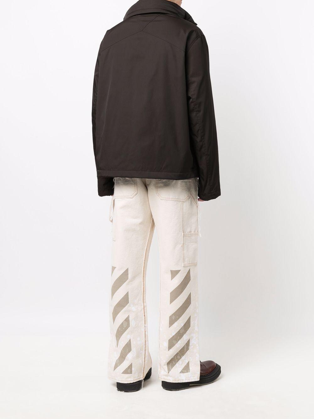 Picture of Bottega Veneta | Concealed Hood Zip-Up Jacket