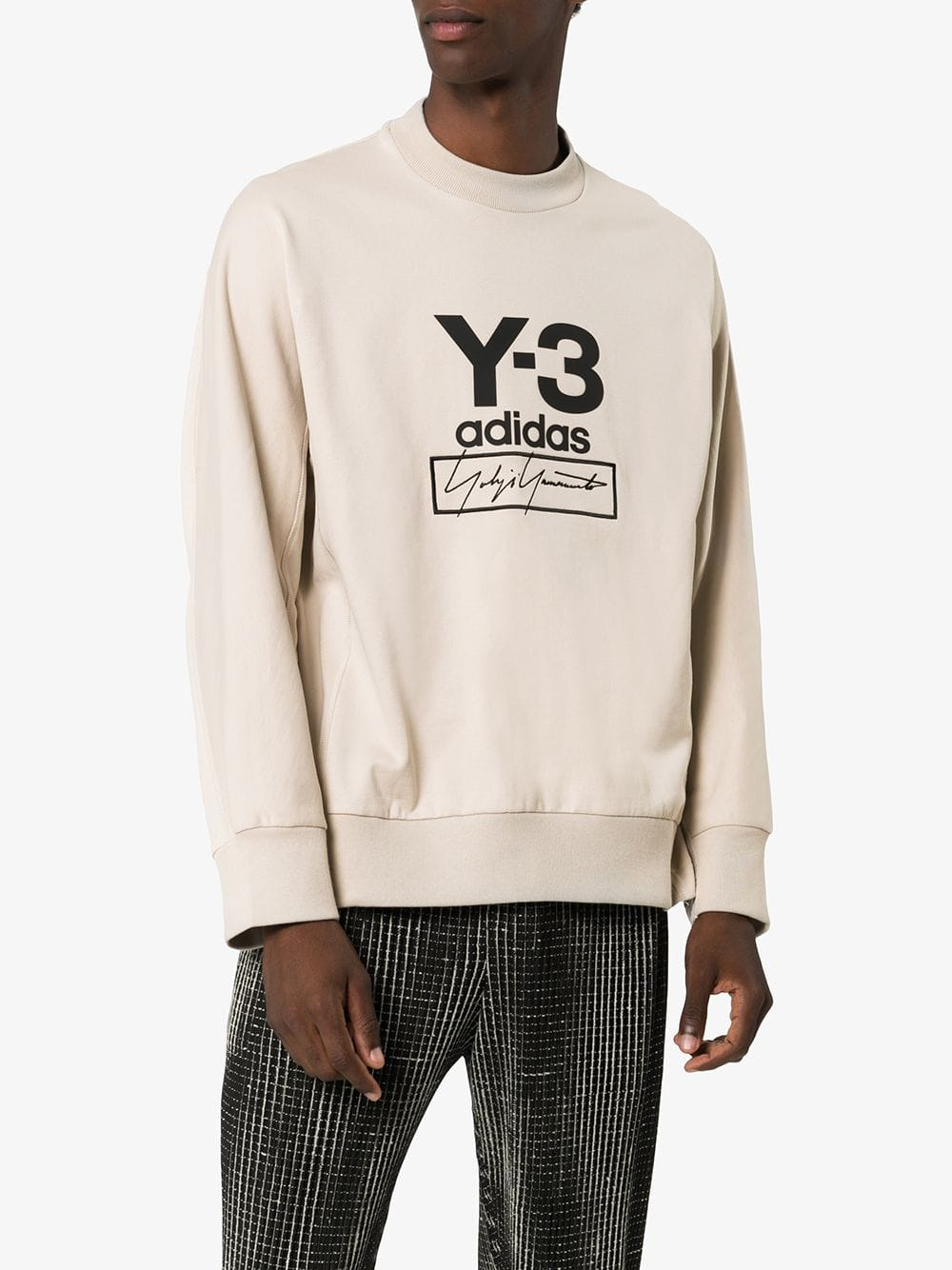Picture of Adidas Y-3 | Stack Logo Crew Neck Jumper