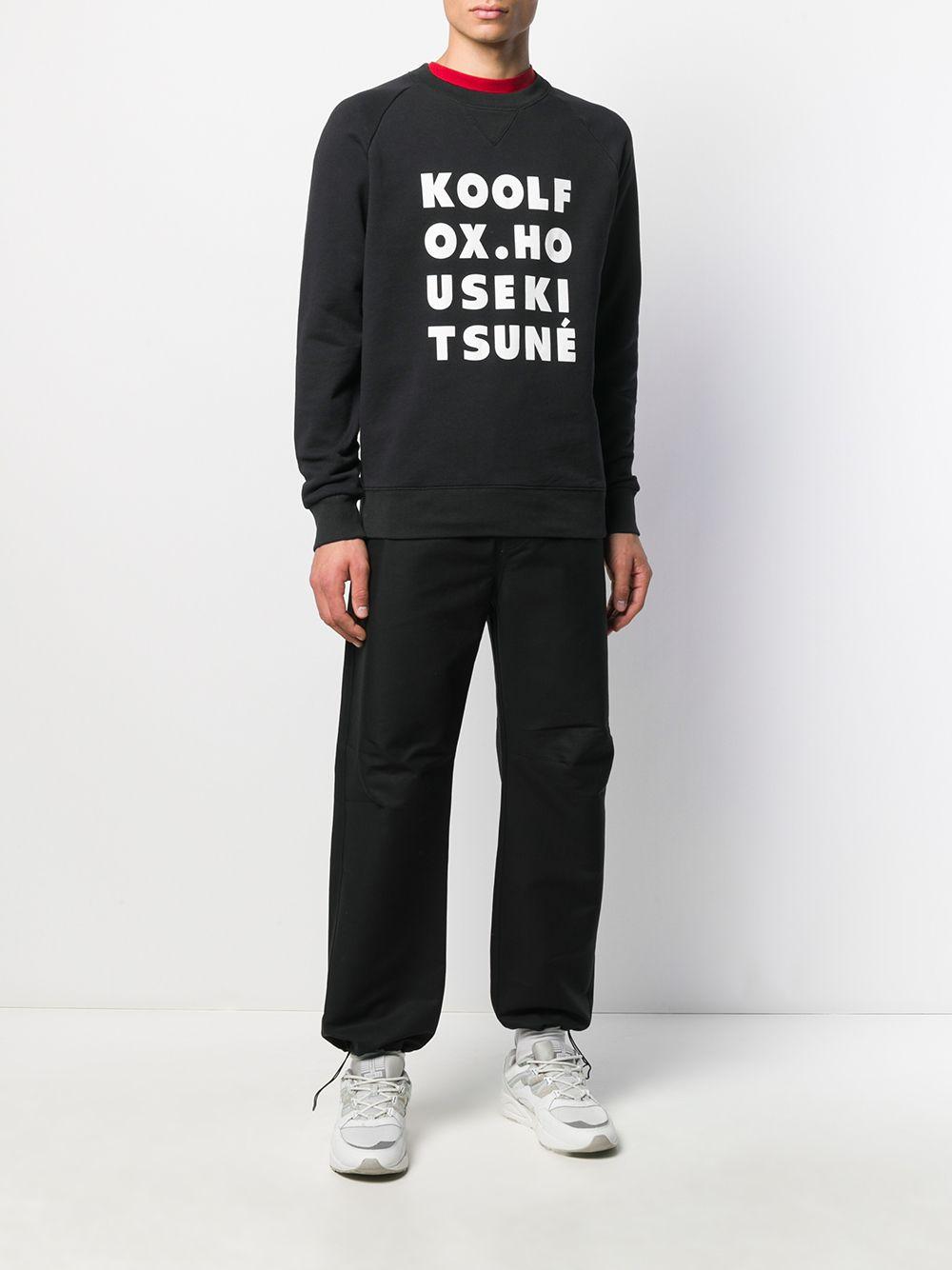 Picture of Maison Kitsune`   Kool Fox Print Jersey Sweatshirt