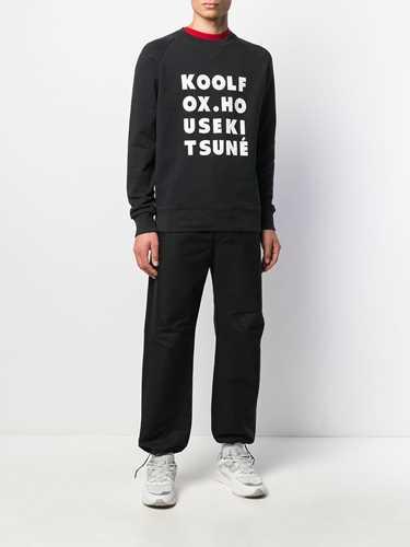 Picture of Maison Kitsune` | Kool Fox Print Jersey Sweatshirt