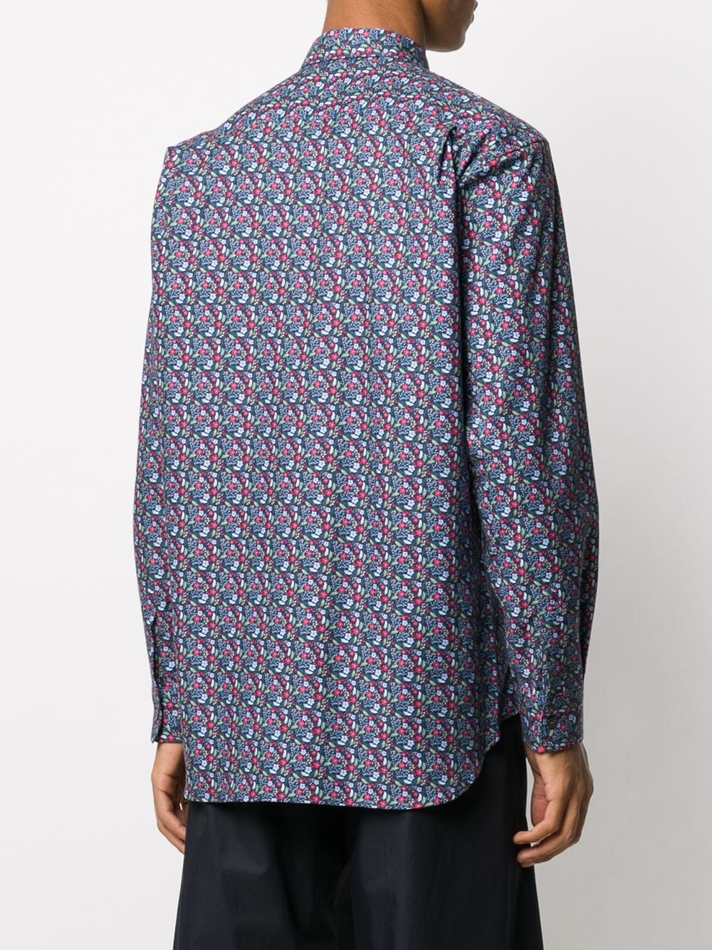 Picture of Comme Shirt | Floral-Print Cotton Shirt