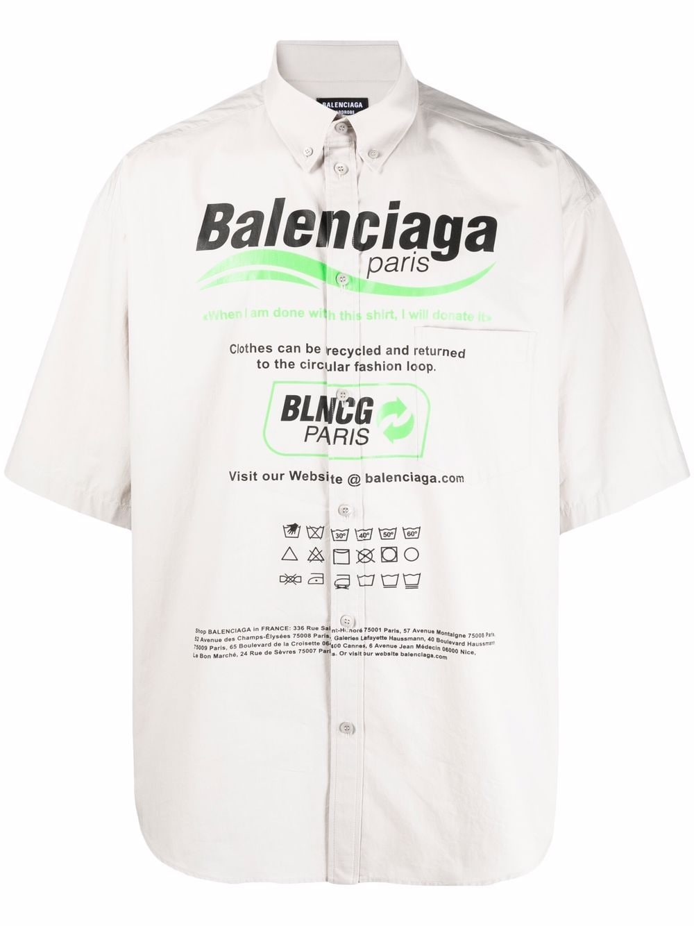 Picture of Balenciaga | Dry Cleaning Oversize Shirt
