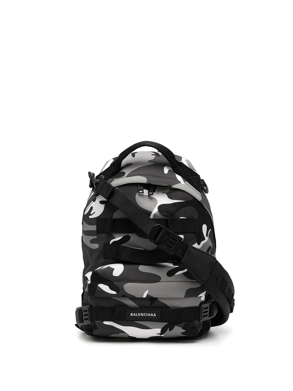 Picture of Balenciaga | Camouflage-Print Logo Backpack