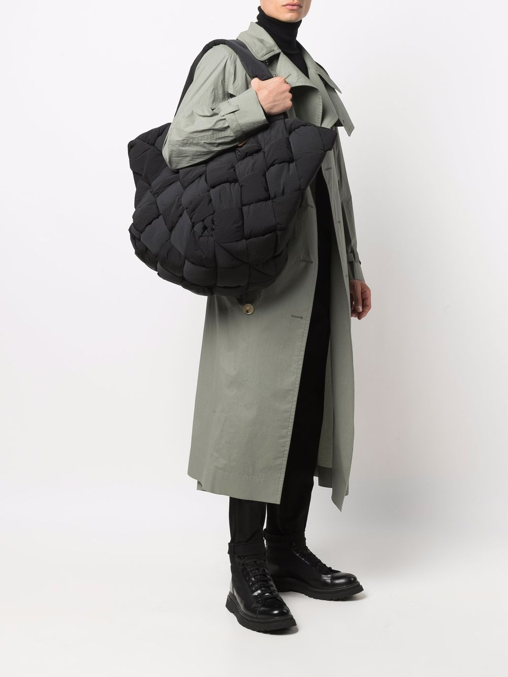 Picture of Bottega Veneta | Cassette Padded Intreccio Tote Bag