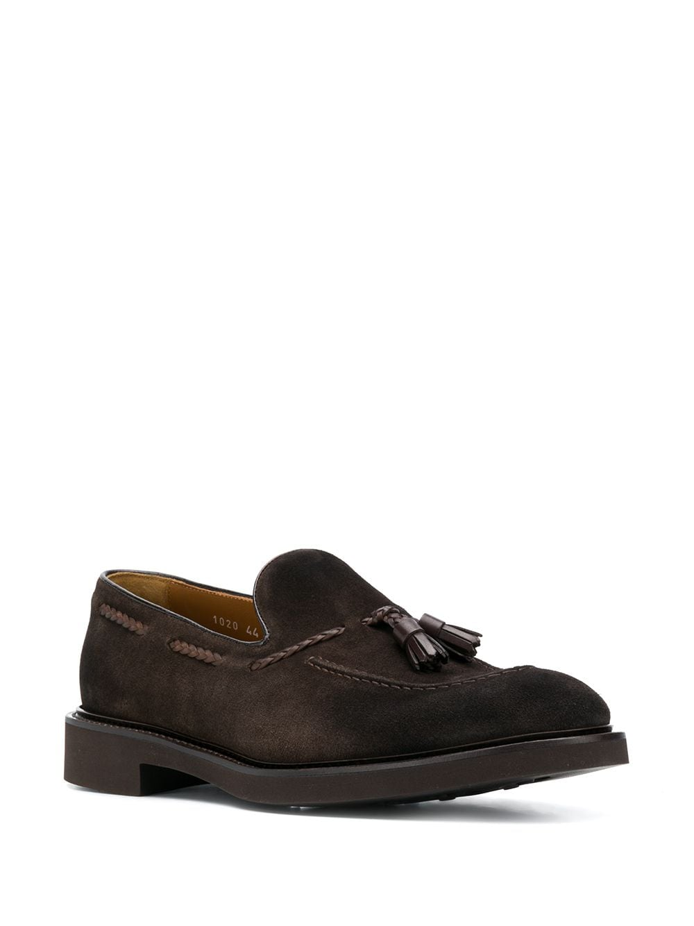 Picture of Doucal`S | Tassel-Embellished Suede Loafers