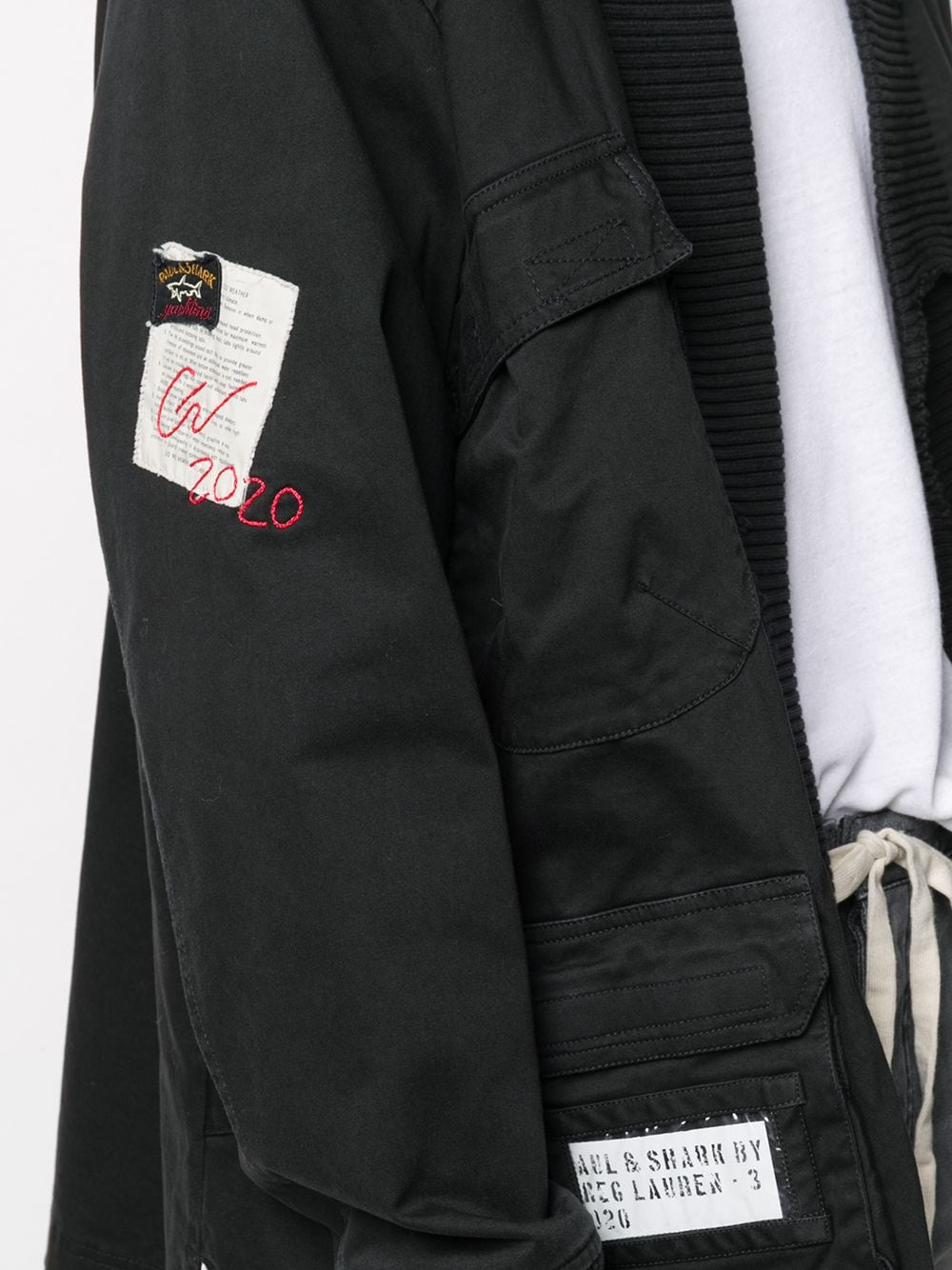Picture of Paul & Shark X Greg Lauren | Patch Detail Open Front Jacket