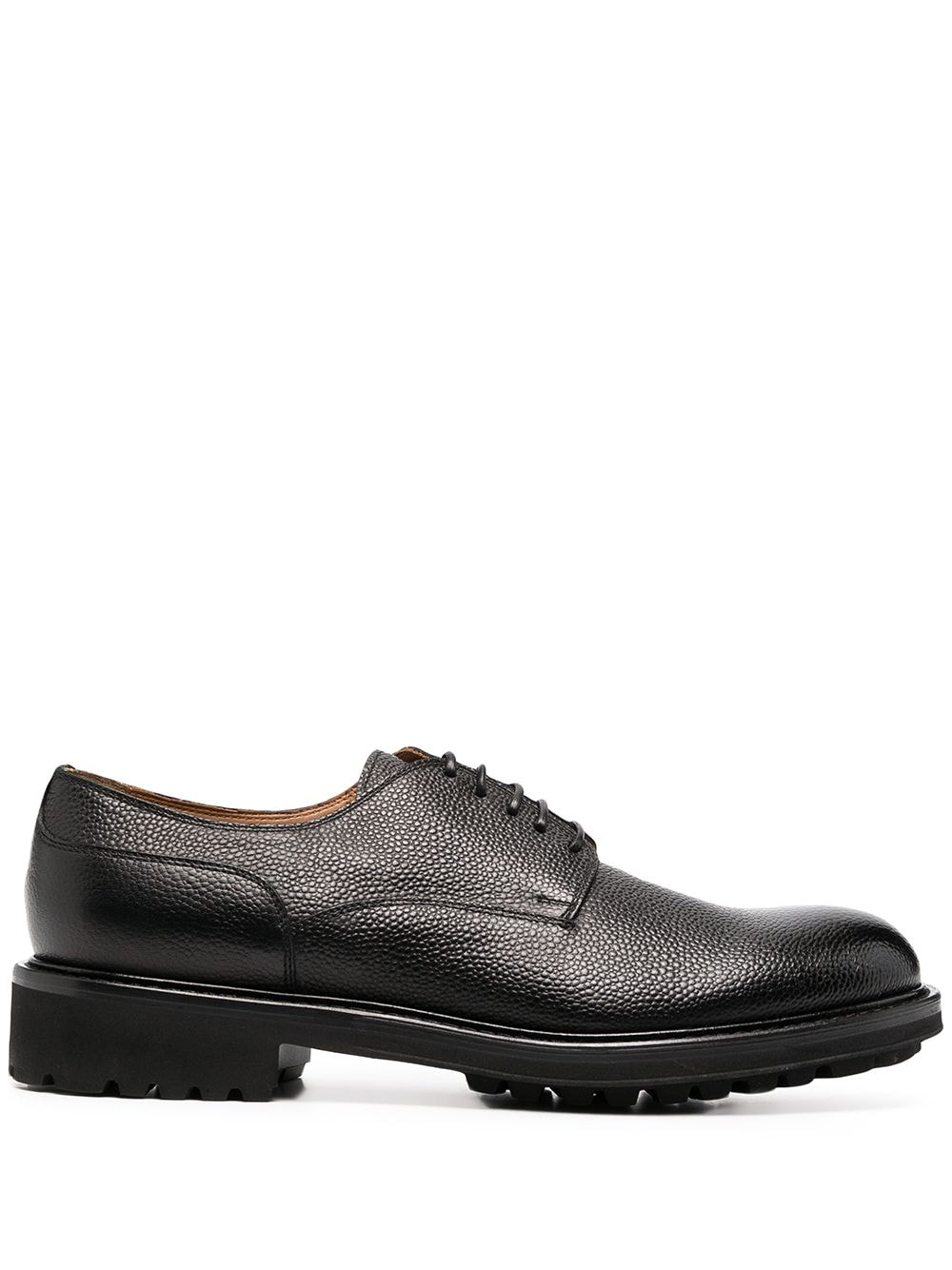 Picture of Doucal`S | Grained-Effect Oxford Shoes